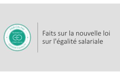 Comprendre la nouvelle loi sur l'égalité salariale